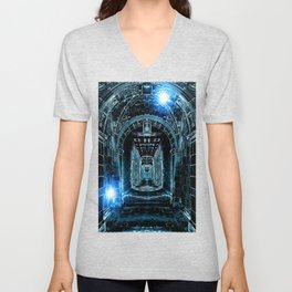 Abstract Gothic Architecture Unisex V-Neck