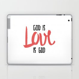 God is LOVE is God Laptop & iPad Skin