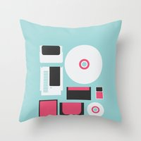 gamer Throw Pillows featuring Gamer by Nicolas Beaujouan