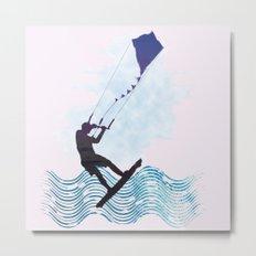 [mis]interpreting kiteboarding Metal Print