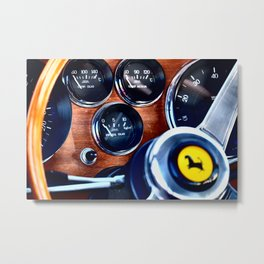 Ferrari Steering Wheel Metal Print