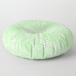 Sketchy Abstract (Light Green & White Pattern) Floor Pillow