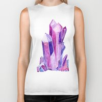 crystal Biker Tanks featuring Crystal by Christina Guo