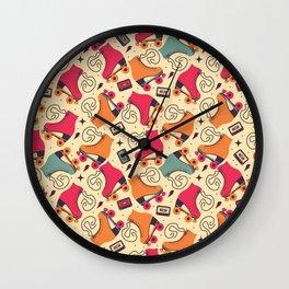 Roller skates pattern 03 Wall Clock