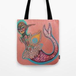 indian goddess mermaid Tote Bag