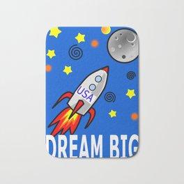 Dream Big-Rocket to the Moon Bath Mat