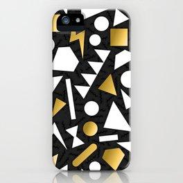 GOLD--GEOMETRIC iPhone Case