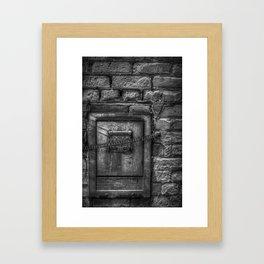 Deposit Waste in Small Bundles Framed Art Print
