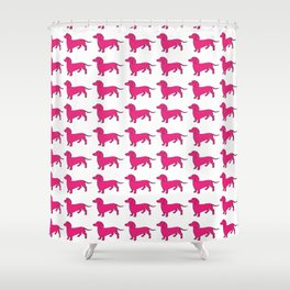 Doxie Love - Pink Shower Curtain