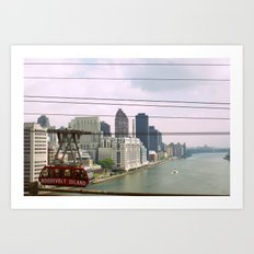 Roosevelt Island Tramway Passing By, New York City Art Print