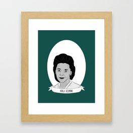 Viola Desmond Illustrated Portrait Framed Art Print