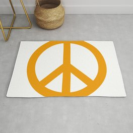 Peace (Orange & White) Rug