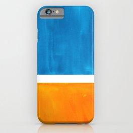 Colorful Jewel Tones Blue Gold Color Block Minimalist Watercolor Art Modern Simple Shapes iPhone Case