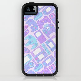 Video Game Controllers in Pastel Colors iPhone Case