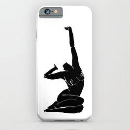 Nude figure print - Louie Silhouette iPhone Case