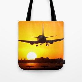 Beautiful 737 Sunset Tote Bag