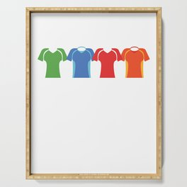 Cycling Shirt Colorful Cyclist Bikers Bicycling Exercise Workout Pedal Gift Serving Tray