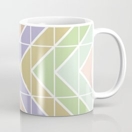 Modern Pastel Geometric Squares and Triangles Coffee Mug