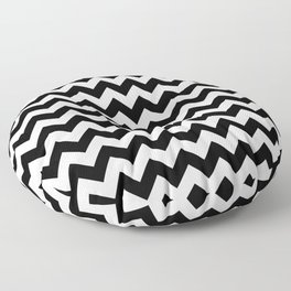 Black and White Chevron Print Floor Pillow