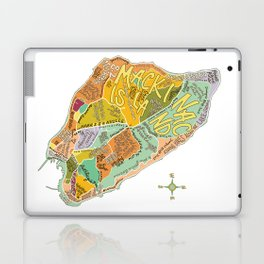 Mackinac Island Illustrated Map Laptop & iPad Skin