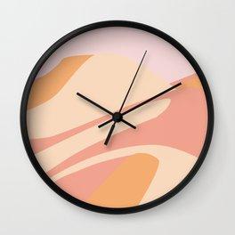 Pink Desert Sands Wall Clock