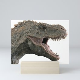 T-Rex Tyrannosaurus Dino Head roaring Mini Art Print