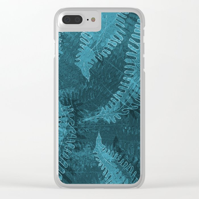 Ferns (light) abstract design Clear iPhone Case