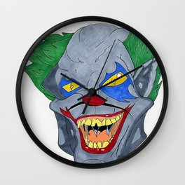 Crazy clown Wall Clock