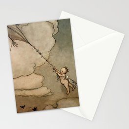 """Away On a Kite"" by Arthur Rackham Stationery Cards"
