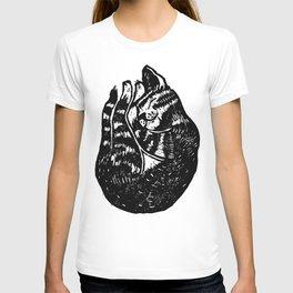 Sleeping Cat - Lino T-shirt