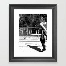 Dancing with Shadows (Hula Hoop Series) Framed Art Print