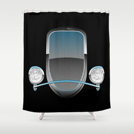 1930s Style Street Rod Car Grill Shower Curtain