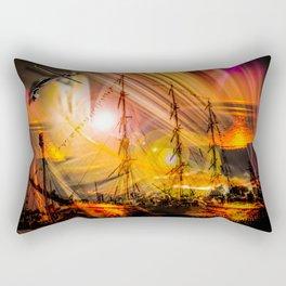 Romance of sailing Rectangular Pillow