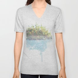 Where the sea sings to the trees - 3 Unisex V-Neck