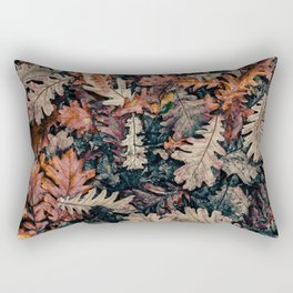 Autumn Leafs Pattern (Color) Rectangular Pillow