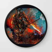 iron man Wall Clocks featuring iron man by ururuty