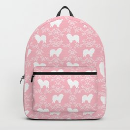 Chow Chow dog floral silhouette dog breed chow chows pet gifts Backpack
