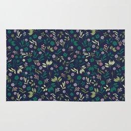 Wildflower forest pattern Rug