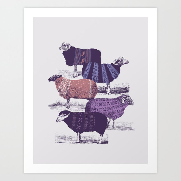 Cool Sweaters Art Print By Jacquesmaes Society6