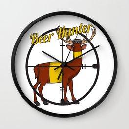 Deer Beer Bottle Cross Hair Hunter Shooting Party Bar Alcohol Gift Idea Wall Clock