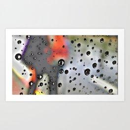 Pearly dew drops drop Art Print