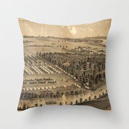 Camp Foster, Cuyahoga Falls, Ohio (1880) Throw Pillow