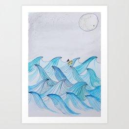 Sail Me To The Moon  Art Print