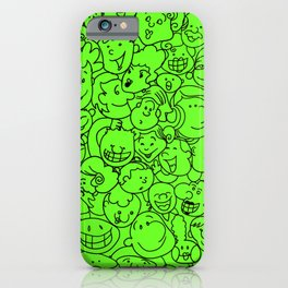 Smiling Face (Slime Green) iPhone Case