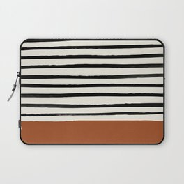 Burnt Orange x Stripes Laptop Sleeve