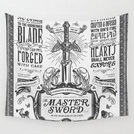 Legend of Zelda Vintage Master Sword Advertisement Wall Tapestry
