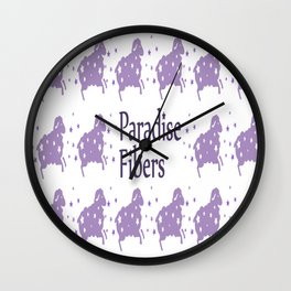 Glitter Sheep Wall Clock