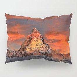 Matterhorn, Switzerland Mountaintop at Sunset Pillow Sham