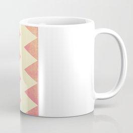 Raspberry Gold and Cream Textured Chevron Coffee Mug