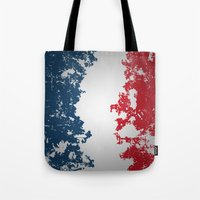 france Tote Bags featuring France by Flat Design